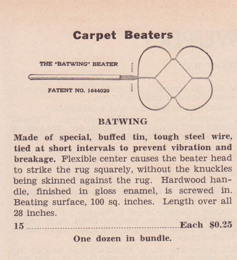 Batwing Beater 1942 Catalogue Listing