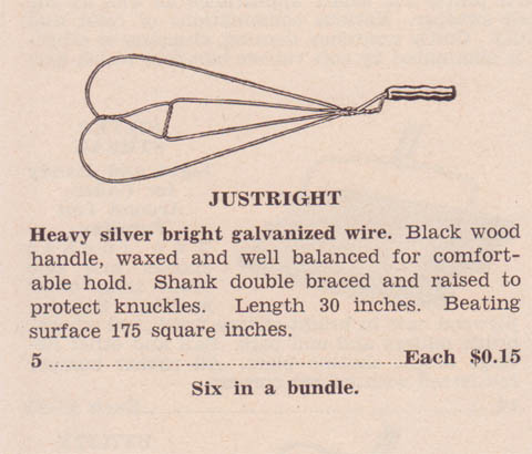 Justright Beater 1942 Catalogue Listing
